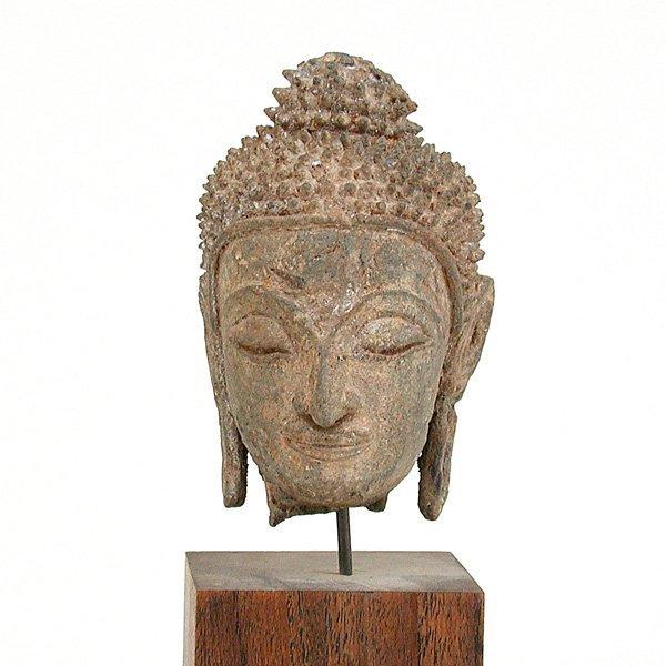 12: Southeast Asian Bronze Buddha Head