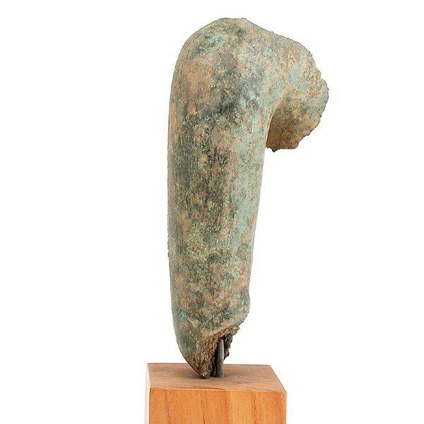 13: Southeast Asian Bronze Fragment of a Buddha