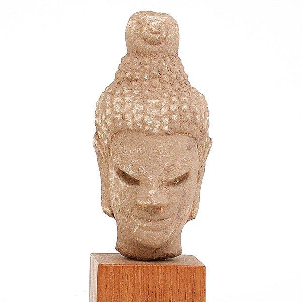 14: Southeast Asian Stone Buddha Head