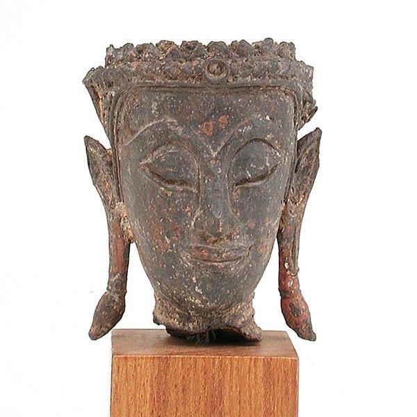 15: Southeast Asian Bronze Buddha Head