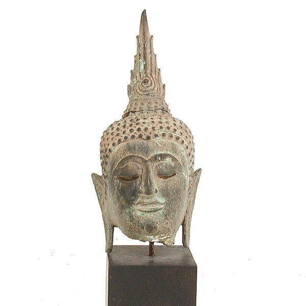 16: Southeast Asian Bronze Buddha Head