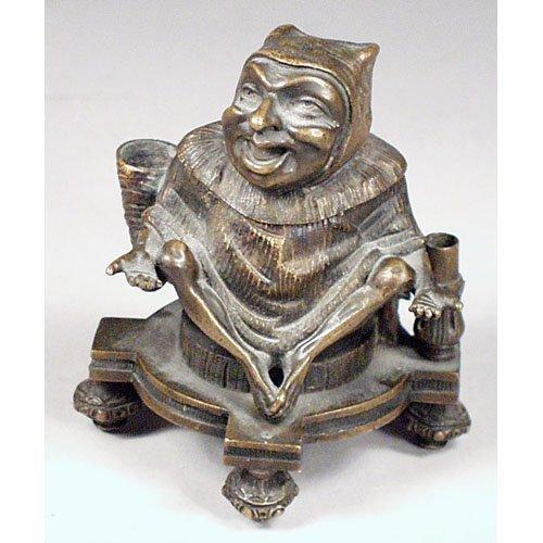 2: Bronze Jester Inkwell.