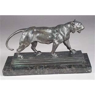 Barye Walking Tiger Bronze.