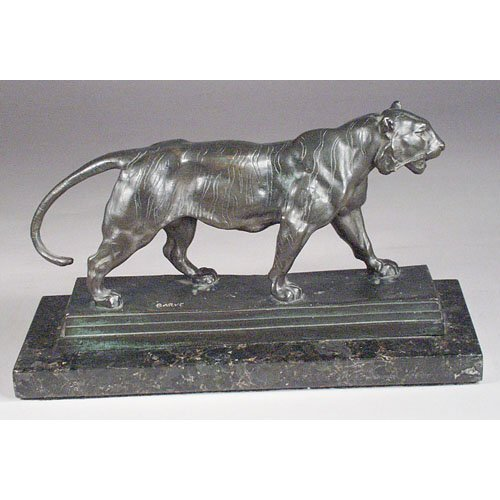3: Barye Walking Tiger Bronze.