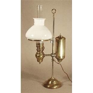 Brass 19th c. Student Lamp.