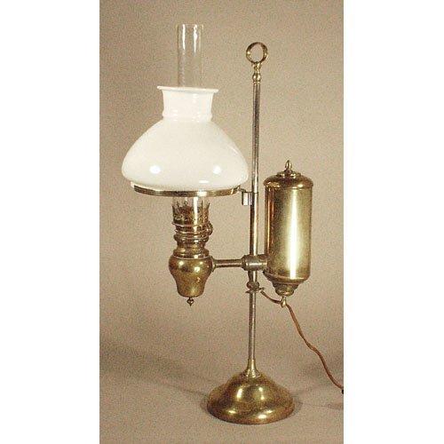 5: Brass 19th c. Student Lamp.