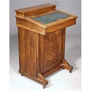 Mahogany Inlaid Davenport Desk.