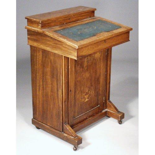 8: Mahogany Inlaid Davenport Desk.