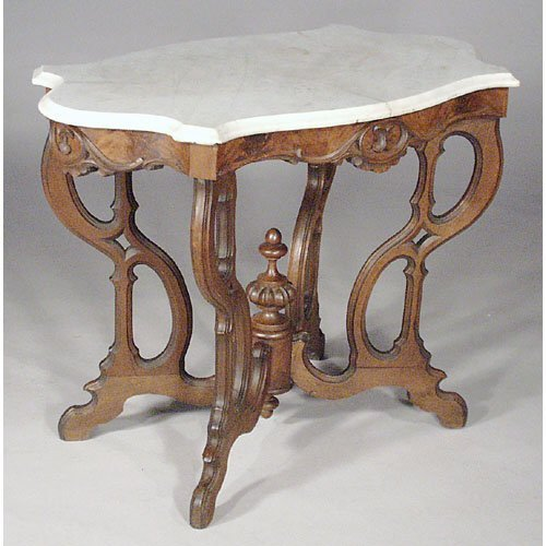 16: Victorian Marble Top Table.