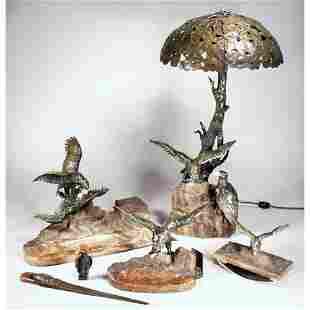 Extraordinary Vienna Bronze Desk Set.