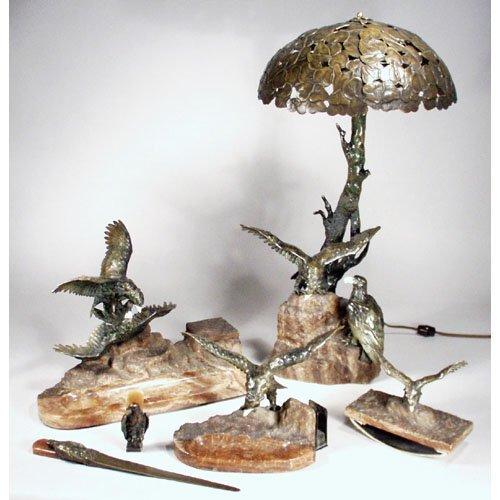 24: Extraordinary Vienna Bronze Desk Set.