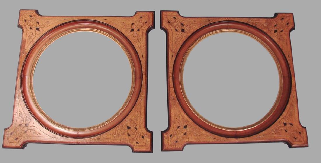 Pair of Aesthetic Movement Walnut Frames