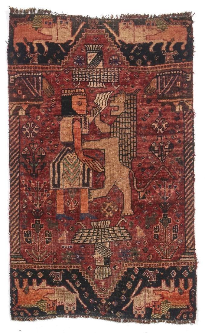 Antique Persian Shiraz Qashkai hand woven rug