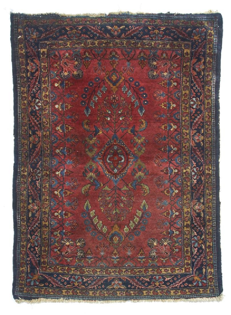 """Persian Sarouk scatter rug. Appx 4'8"""" x 3'5"""""""