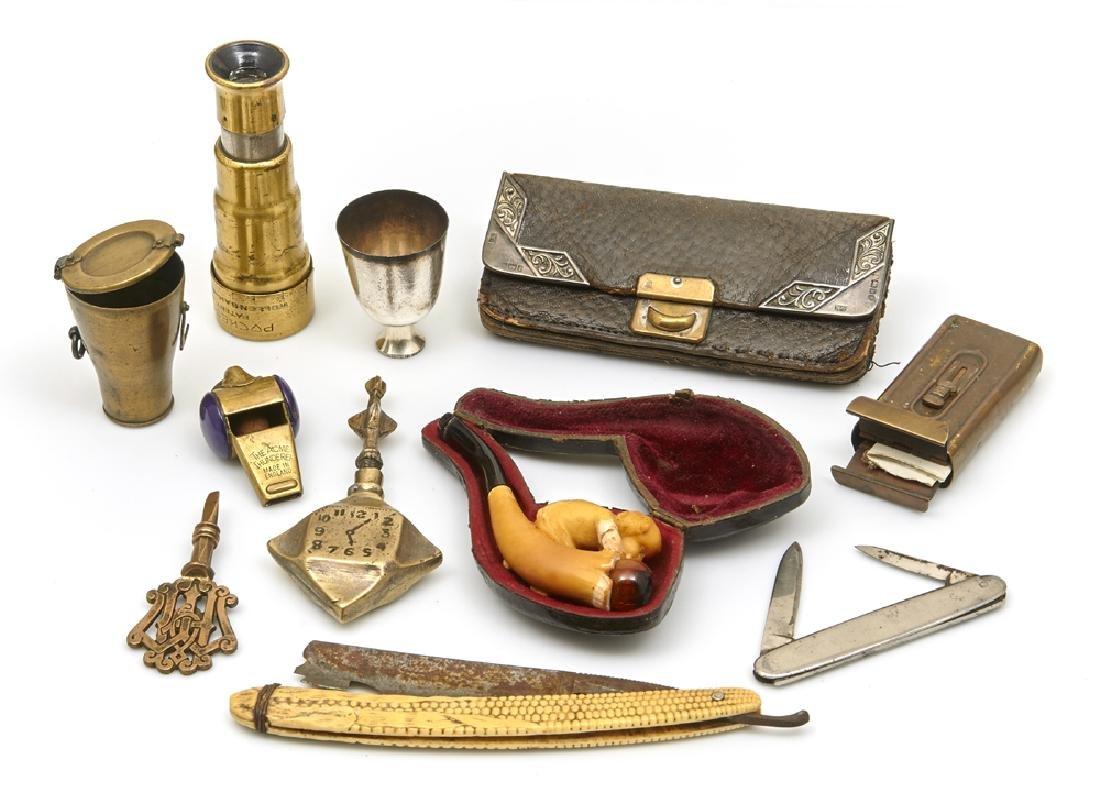 Lot of 10 gentleman's accessories including civil war