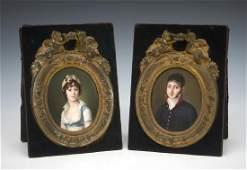 Jean Auguste Edouard Lienard (France, 1779-1848), pair