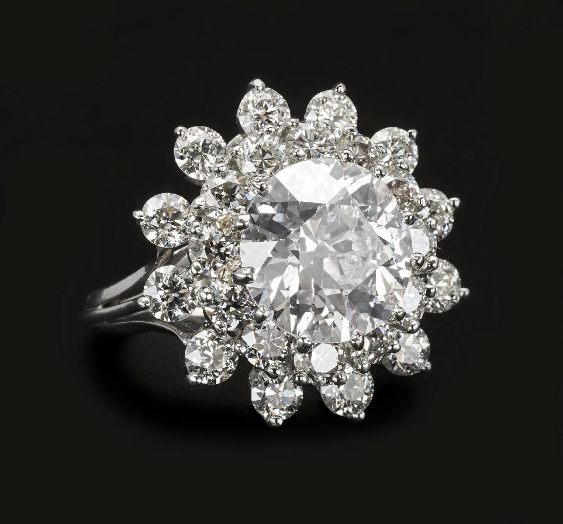 Platinum 3.76ct. diamond ring, GIA #1186716717