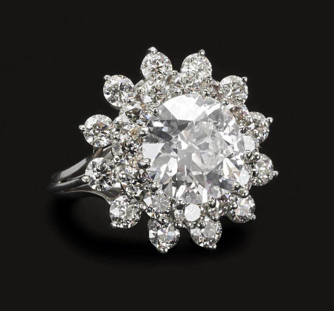 Platinum 3.76ct. diamond ring, GIA #1186716717