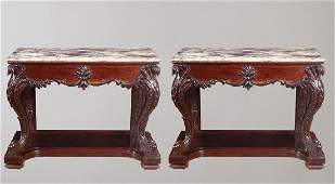 19th c Chinese Export Console Tables