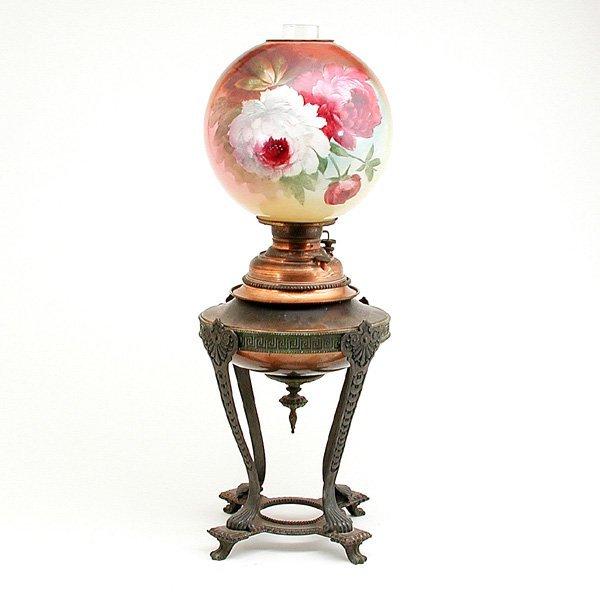 18: Kerosene Lamp Floral Globe