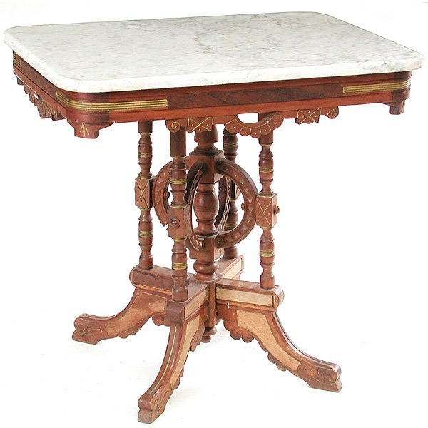 19: Victorian Marble Top Table