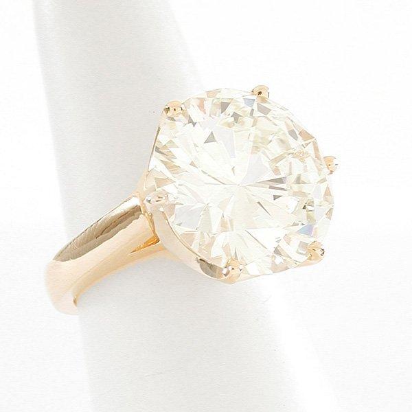 205: 9.26ct. Solitaire Diamond Ring