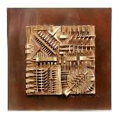 439: Arnoldo Pomodoro Sculptural Box & Book