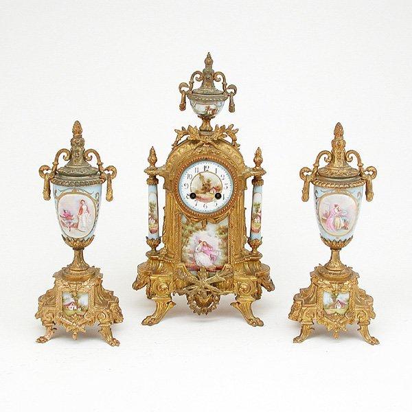 475: French 3 pc. Clock Set