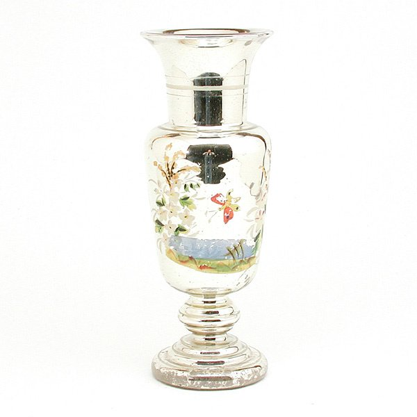 16: Victorian Mercury Glass Vase