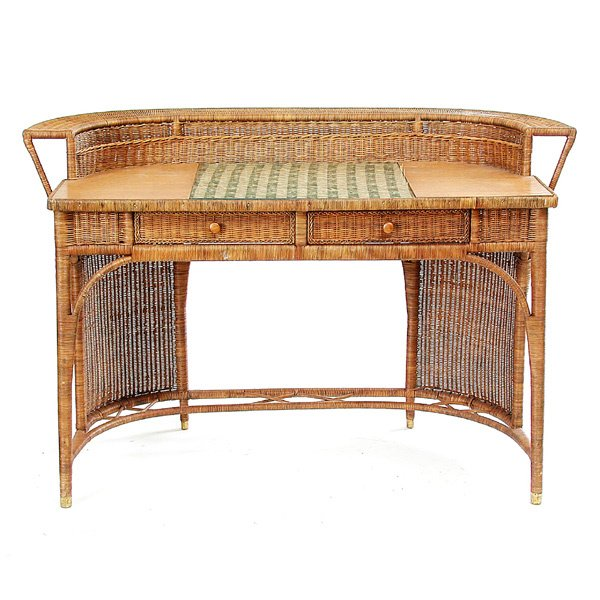 17: Art Nouveau Wicker Desk