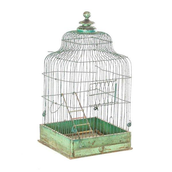 20: Victorian Wire Birdcage Bird Cage Green
