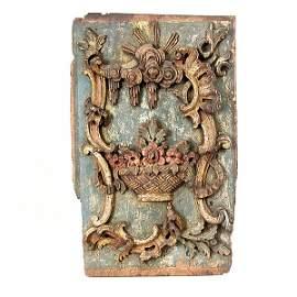 571: 18th C Carved Door Panel