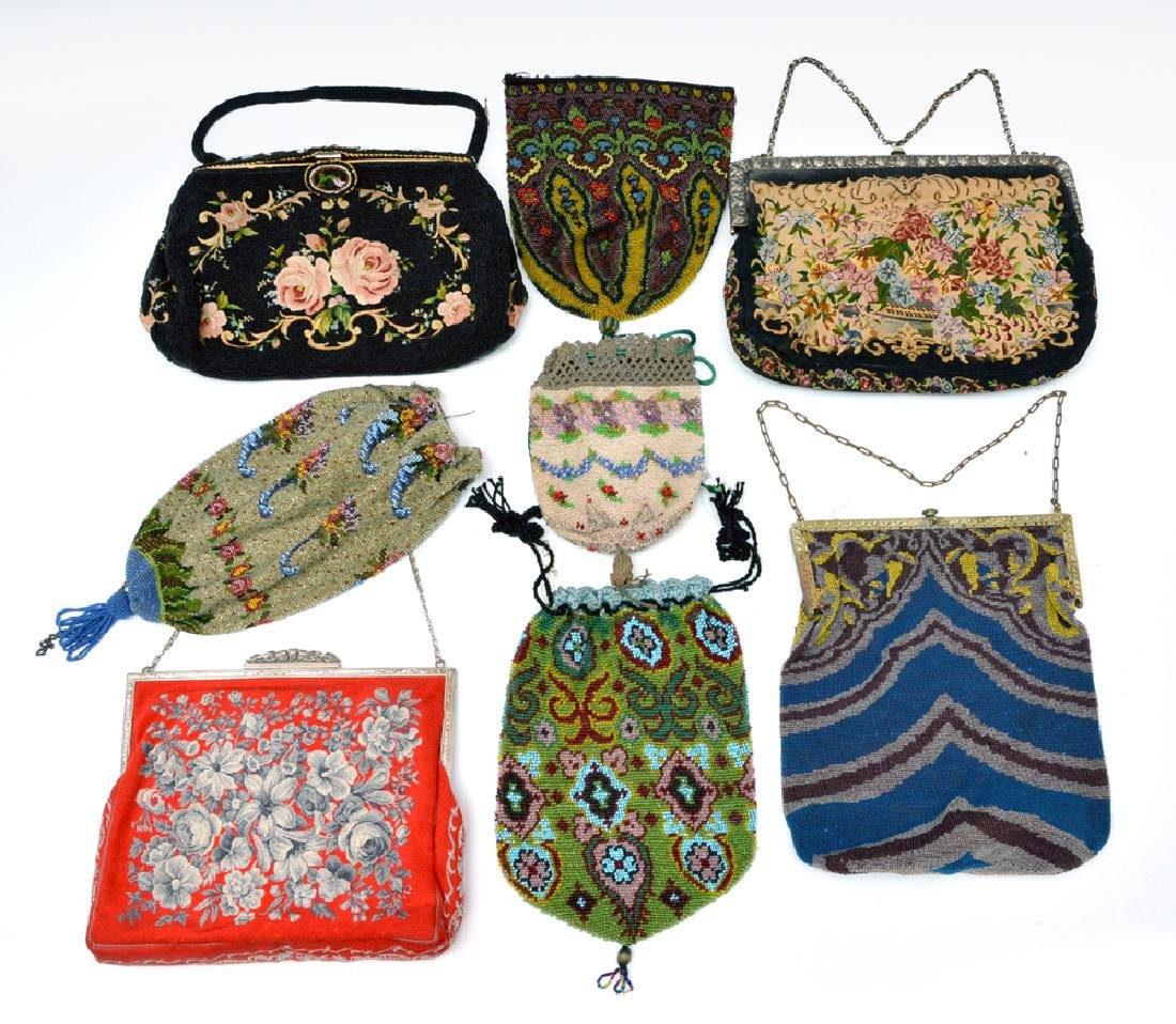 Grouping of eight purses