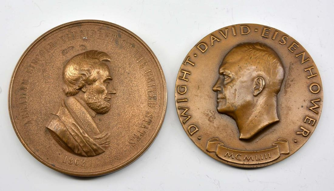 Lincoln 1862 Indian Peace Medal by Ellis & Eisenhower