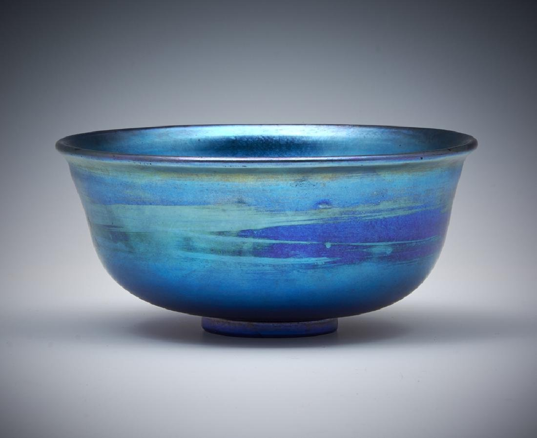 Louis Comfort Tiffany LCT blue favrile glass bowl