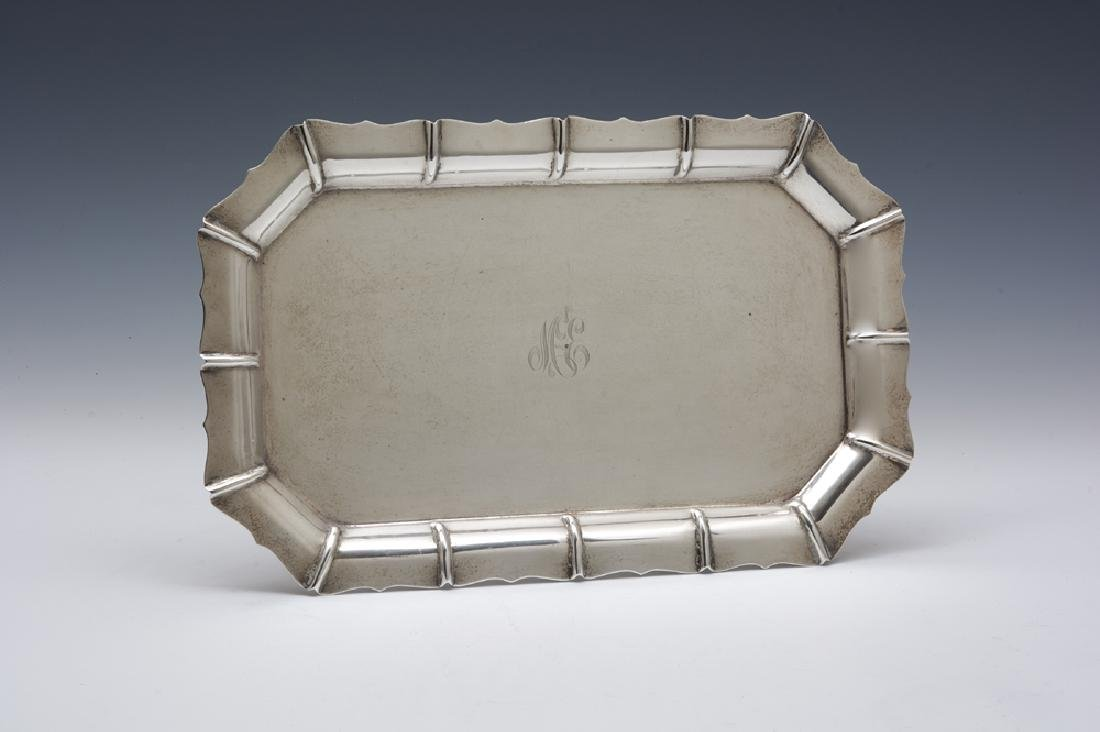 Large sterling silver serving tray