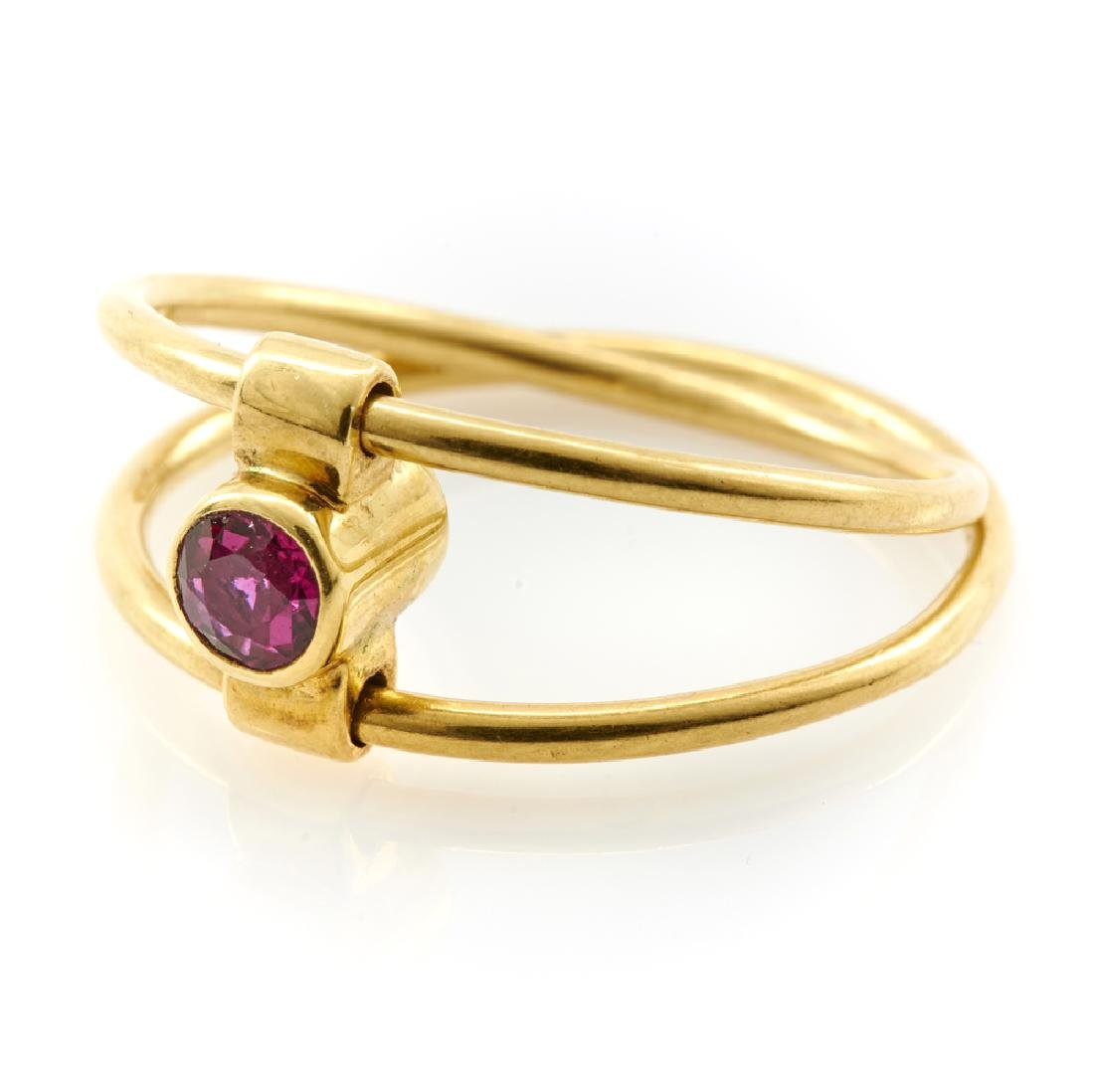 Tiffany & Co. 18k yellow gold, ruby and diamond ring