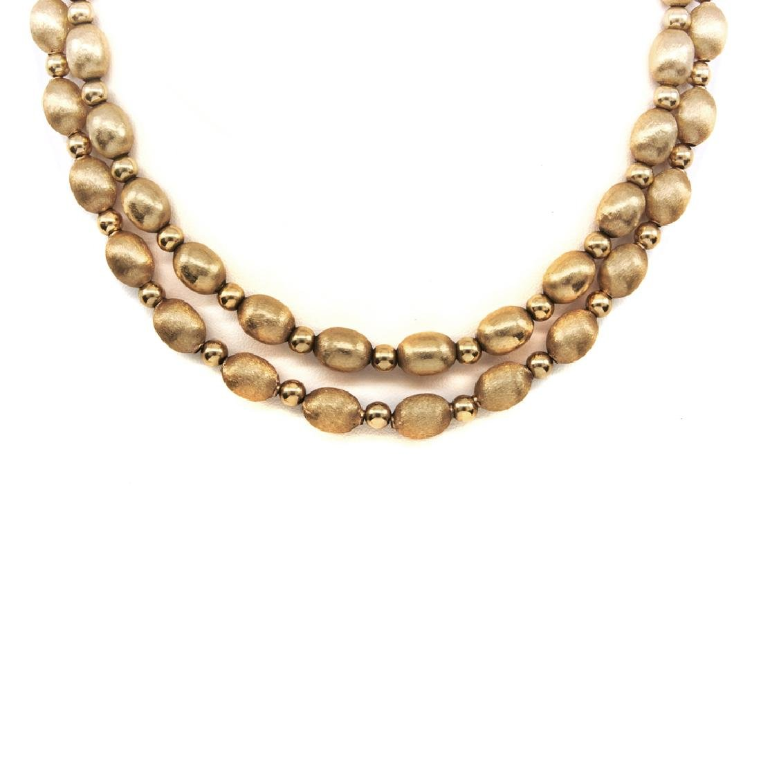 14k Yellow gold bead necklaces