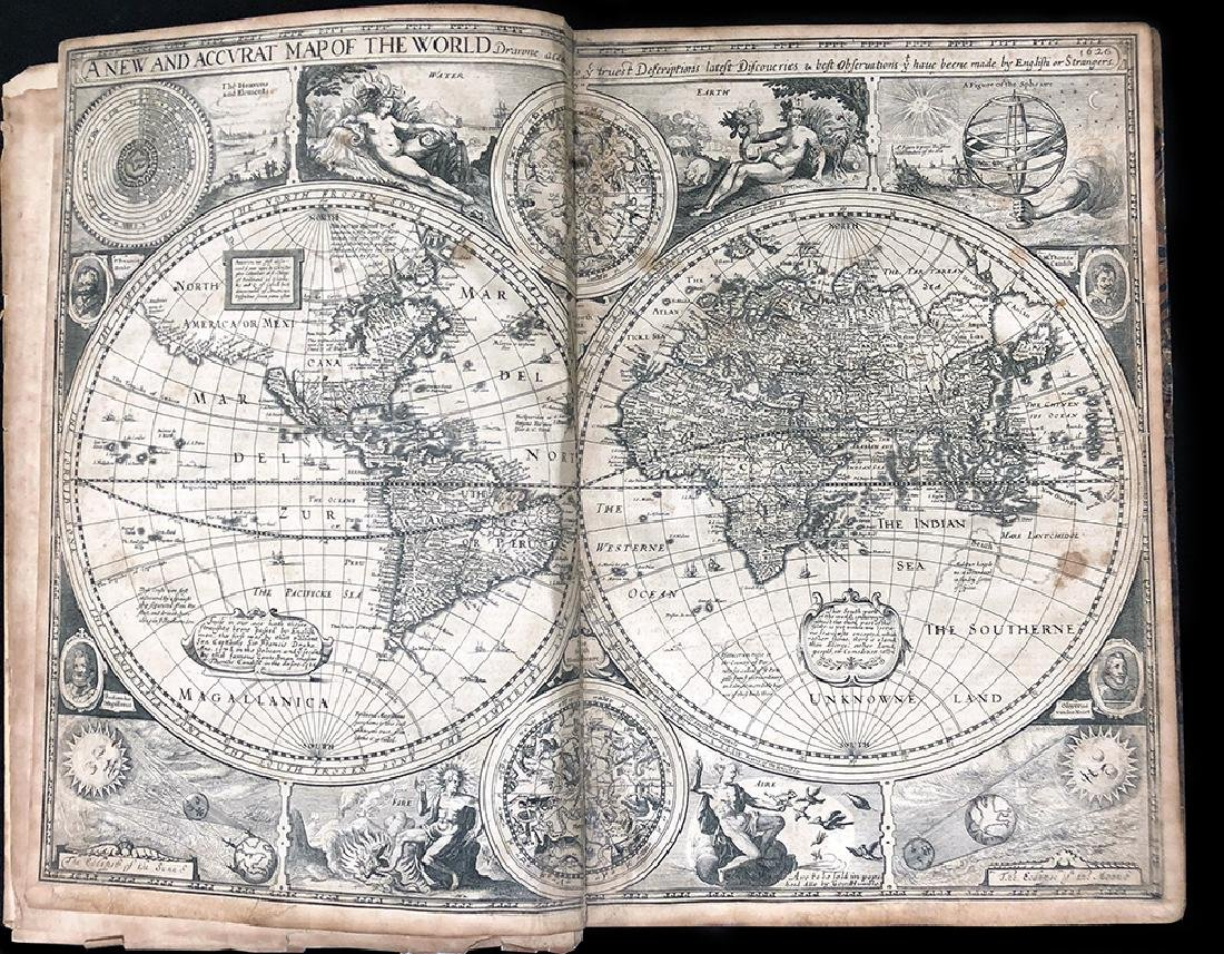 John Speed, 1627, A Prospect Most Famous Parts of World