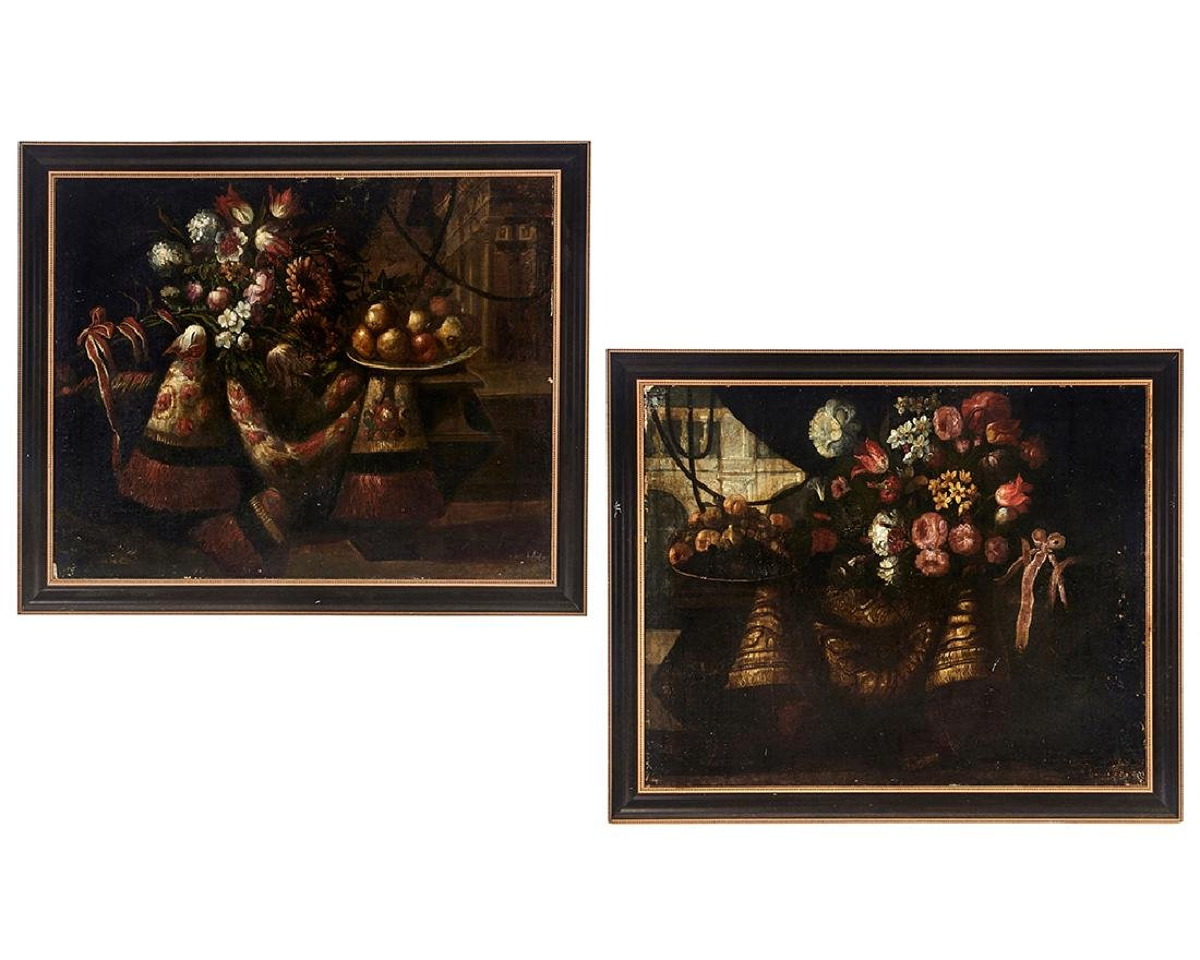 Juan de Arellano, Pair of still lifes, oils on canvas