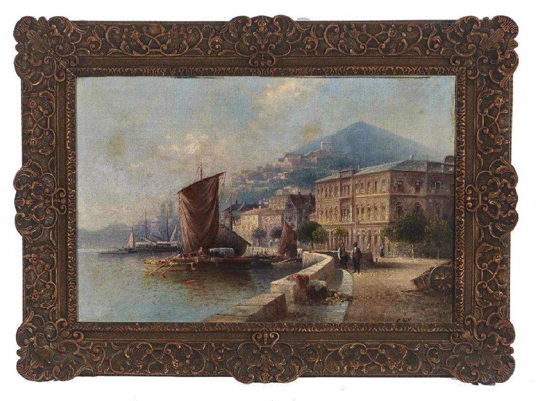 Karl Kaufmann (1843-1905), View of Naples, oil/ canvas,