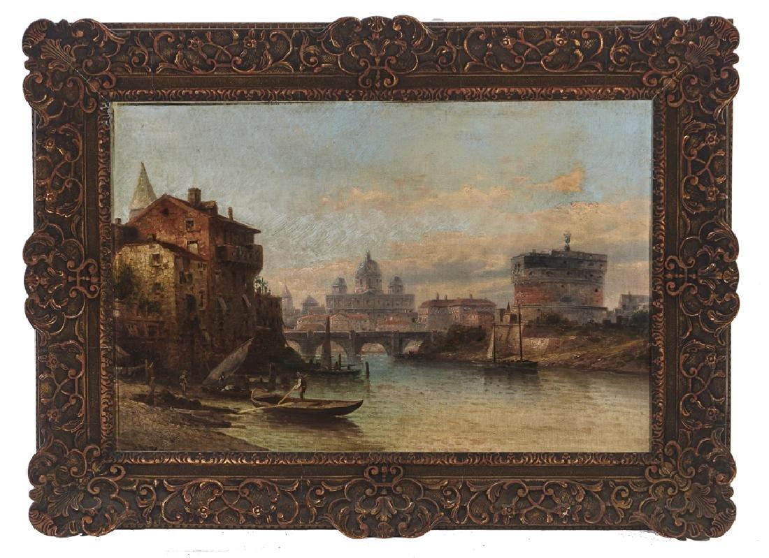 Karl Kaufmann (1843-1902/5), View of Rome, oil/ canvas