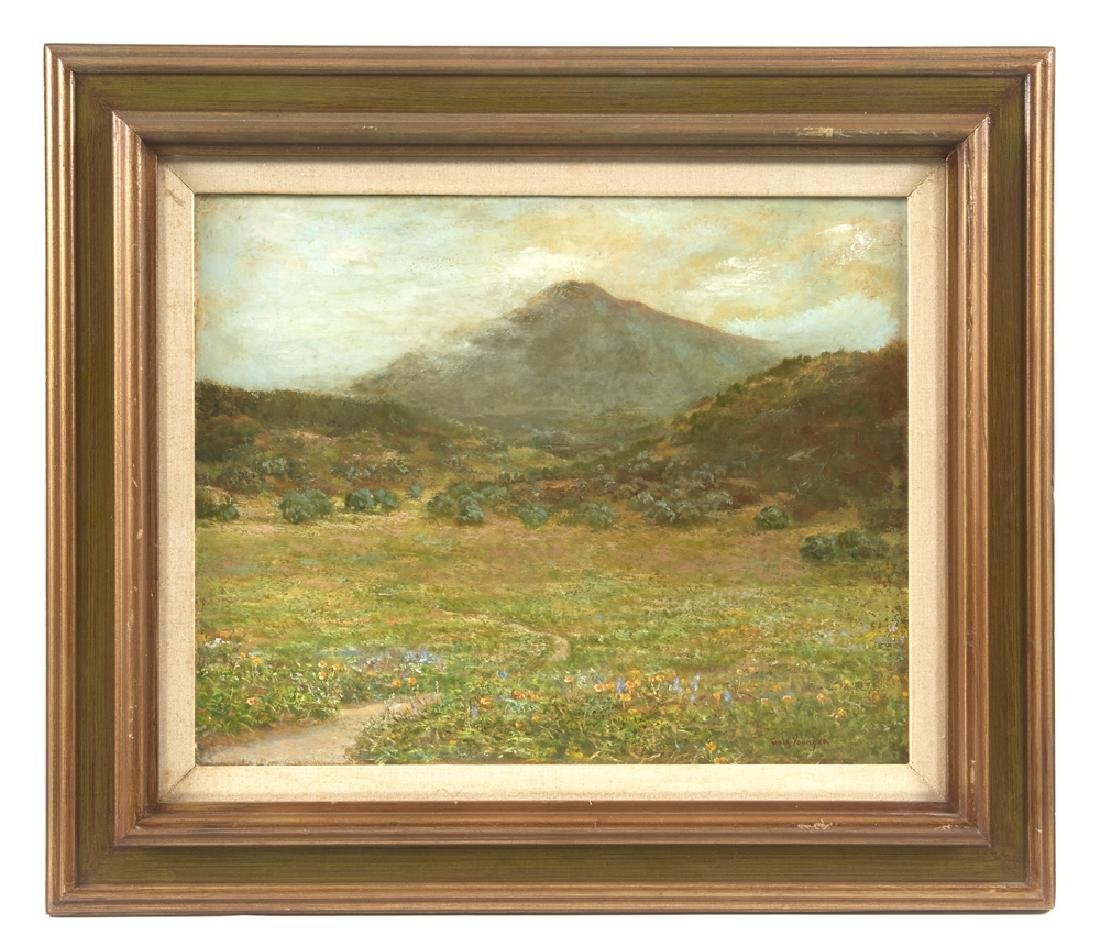 Gale Younger Painting, Marin County Hills