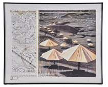 "Christo, ""The Umbrellas"", Offset Lithograph"