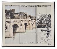 Christo, Pont Neuf Wrapped Offset Litho