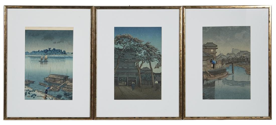 3 Hasui Kawase Japanese Woodblock Prints