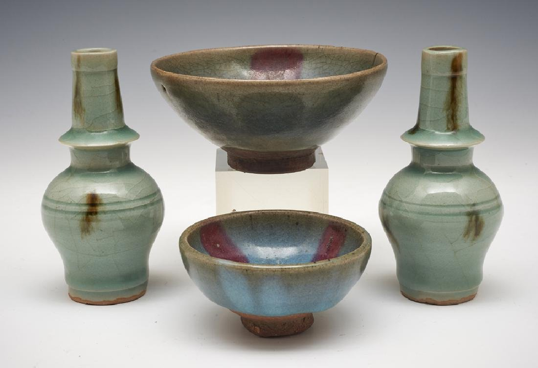 Group of Four Chinese Jun Wares