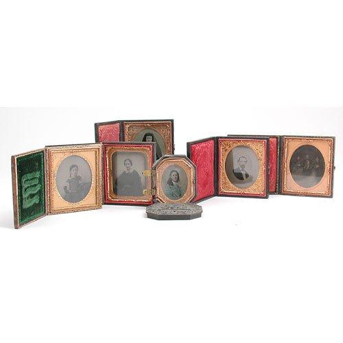18: Lot Of Six Portrait Daguerotypes.