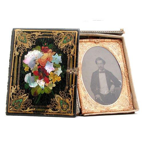 19: 1870's Daguerotype Of Gentleman.