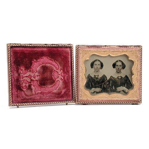 20: 1870's Daguerotype Two Sisters.